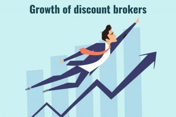 Growth of discountbrokers in India